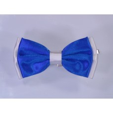 Bicolor Bow Tie Blue and White