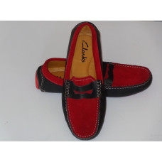 Bicolore Mocassin For Men - Red Black