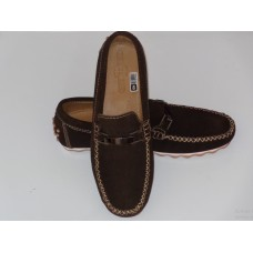 Brown Moccasin with a plate