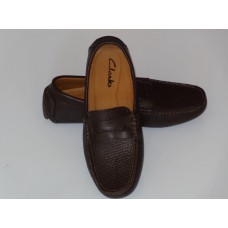 Brown Leather Moccasin for Men