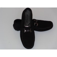 Casual Moccasin with Bracelet - Black