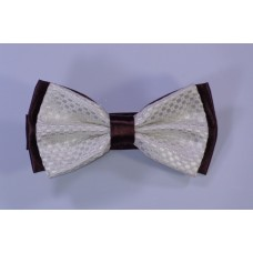 Bow tie - Brown and white