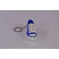 Blue converser with key ring and red laser in Morocco