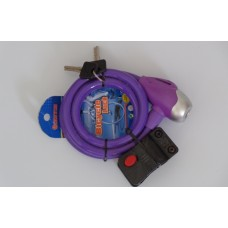 Purple Padlock for Bicycle
