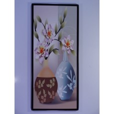 Wall chart with two vases and flowers