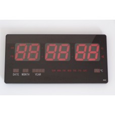 Numerical Wall Clock Plasma Style with Red Led