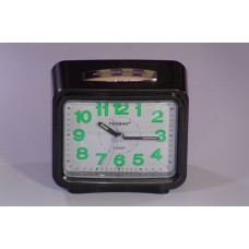Black table clock with alarm