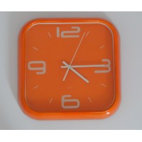 Orange design wall clock